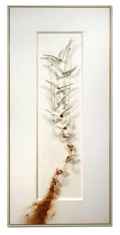 Large Pigment Metal Sculpture: 'Into the Throats of Birds'