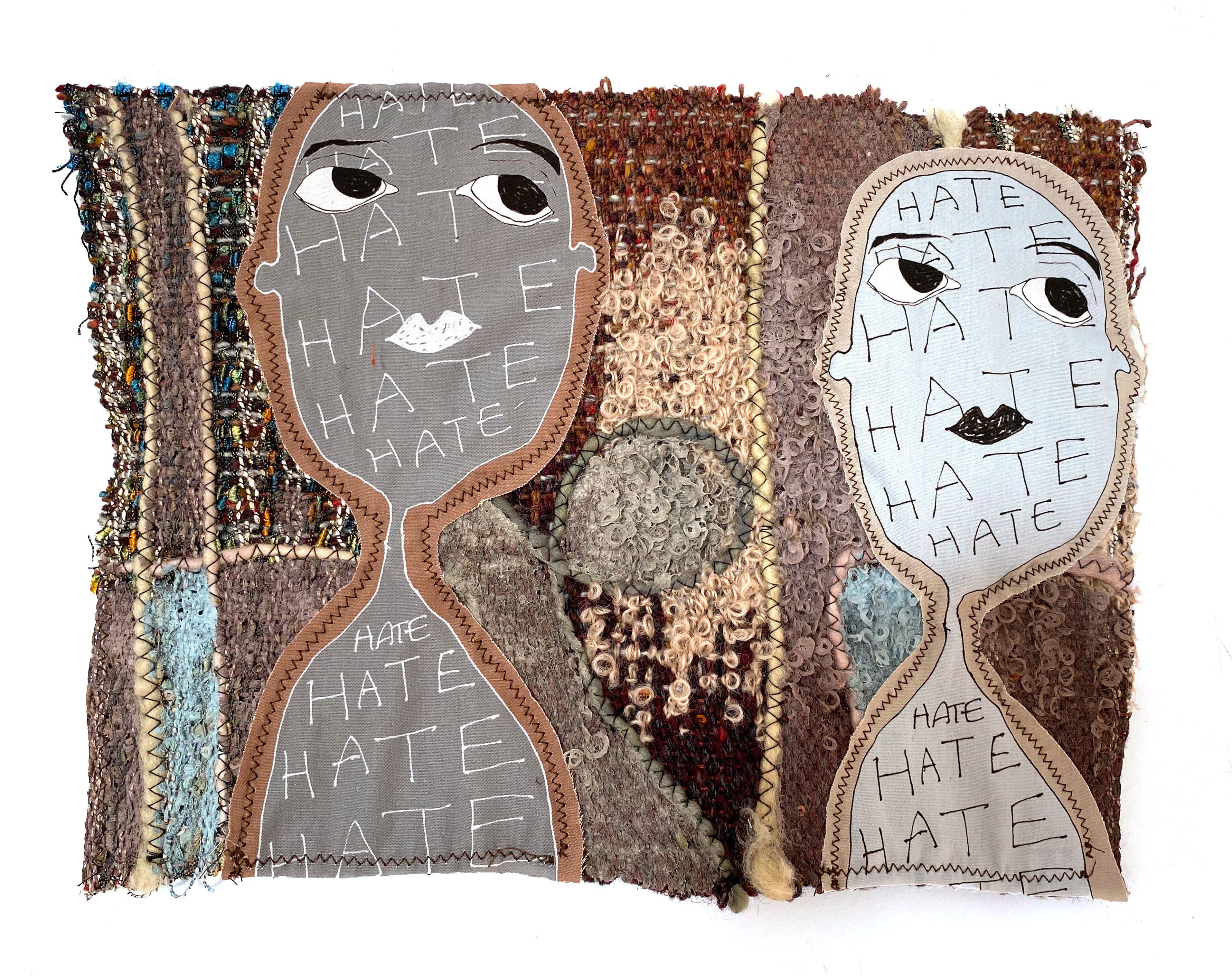Handwoven textile wall hanging: 'Isabella'