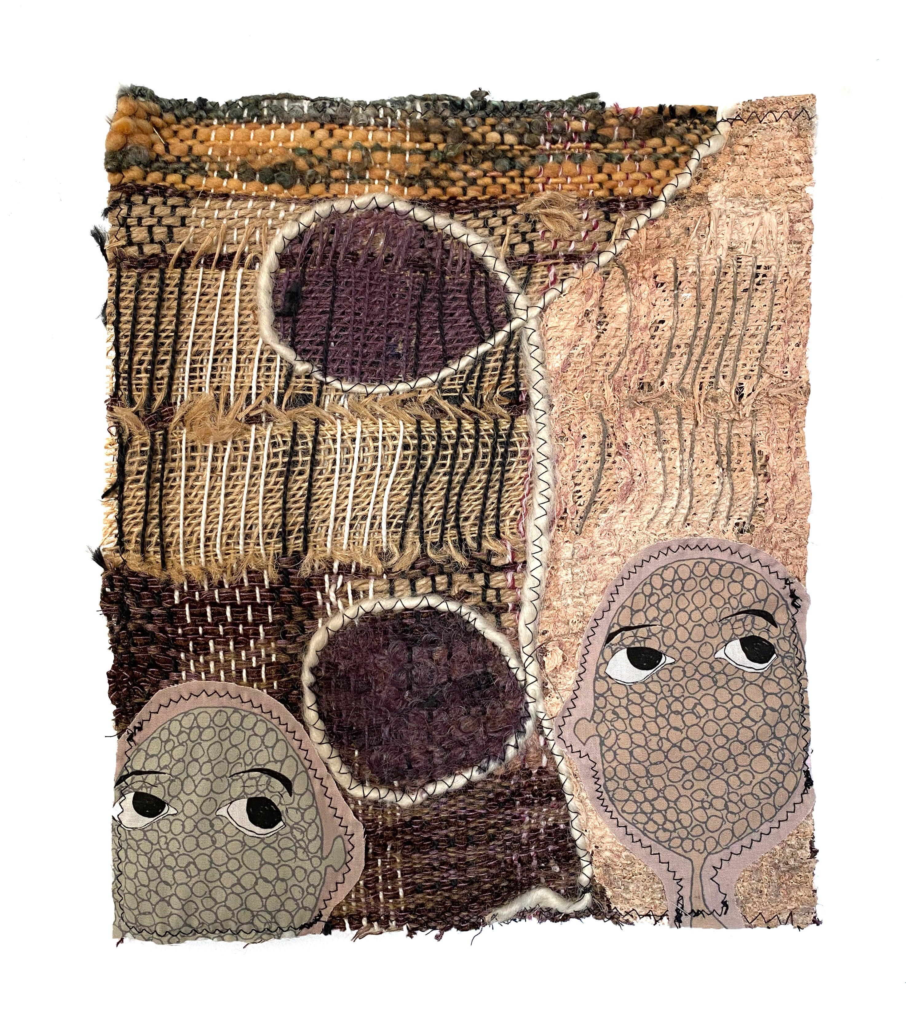 Handwoven textile wall hanging: 'Harper'