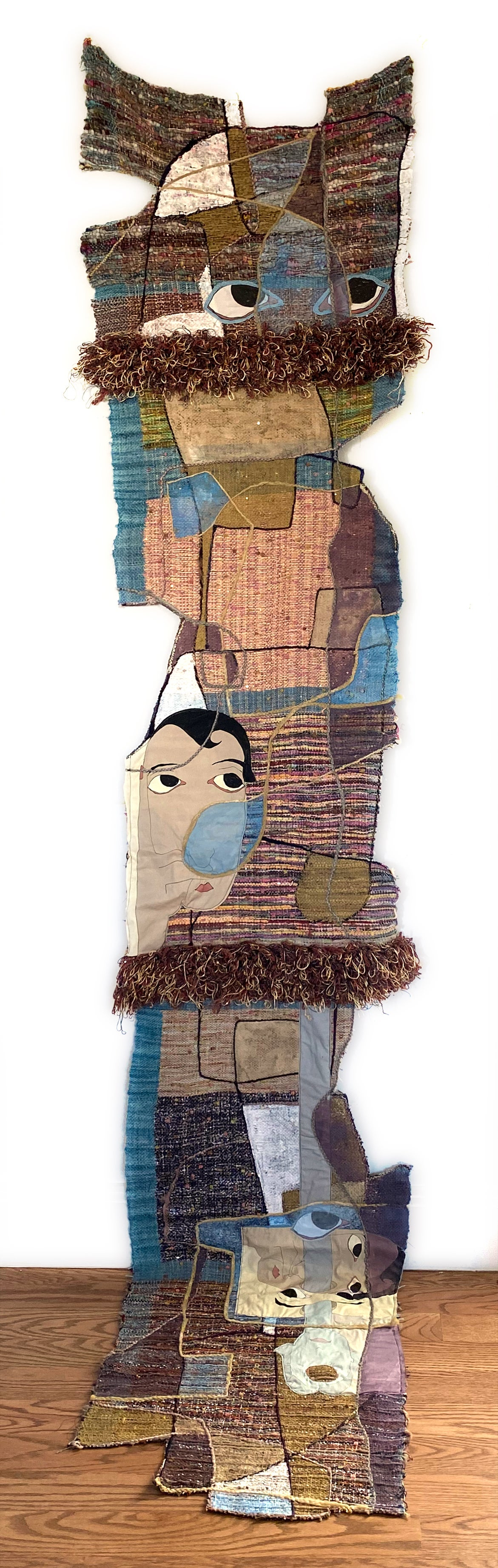 Handwoven textile wall hanging: 'Annie'