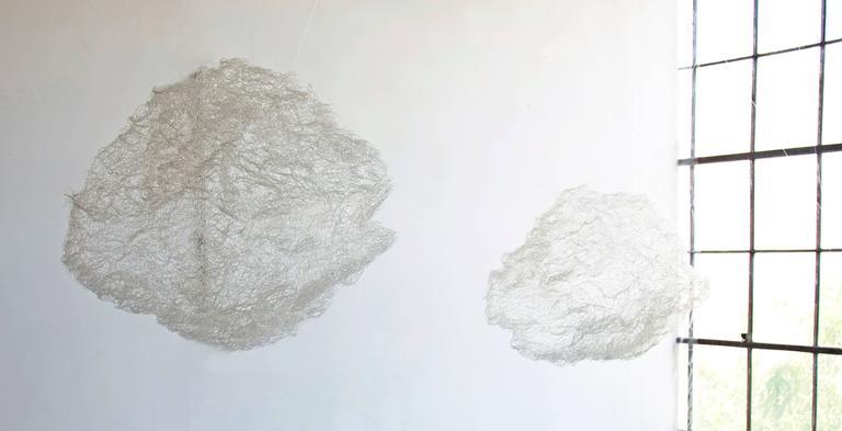 Clouds I & II - Sculpture by Angelica Bergamini