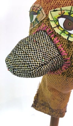 Textile Sculpture: 'I am Puppet' (beak)