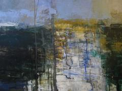 West Forks Winter, Abstract Expressionist Acrylic Painting
