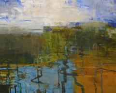 Headwaters, Abstract Expressionist Acrylic Painting