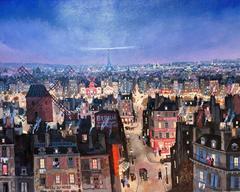Soir de Paris, Acylic Paint on Canvas