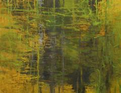 Switch Grass, Abstract Expressionist Oil Painting