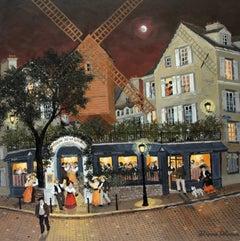 Bal au Moulin de la Galette, Acrylic Paint on Board