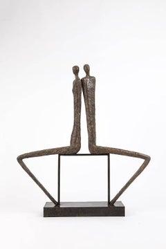 Aurore et Crépuscule, bronze sculpture