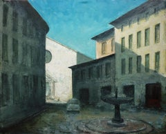 Clair-obscur à Perugia, oil painting on canvas