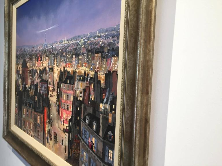 michel delacroix soir de paris painting for sale at 1stdibs. Black Bedroom Furniture Sets. Home Design Ideas