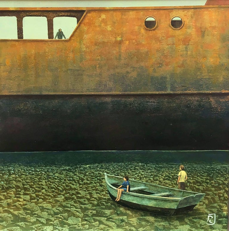 Les petits marins, oil paint on board