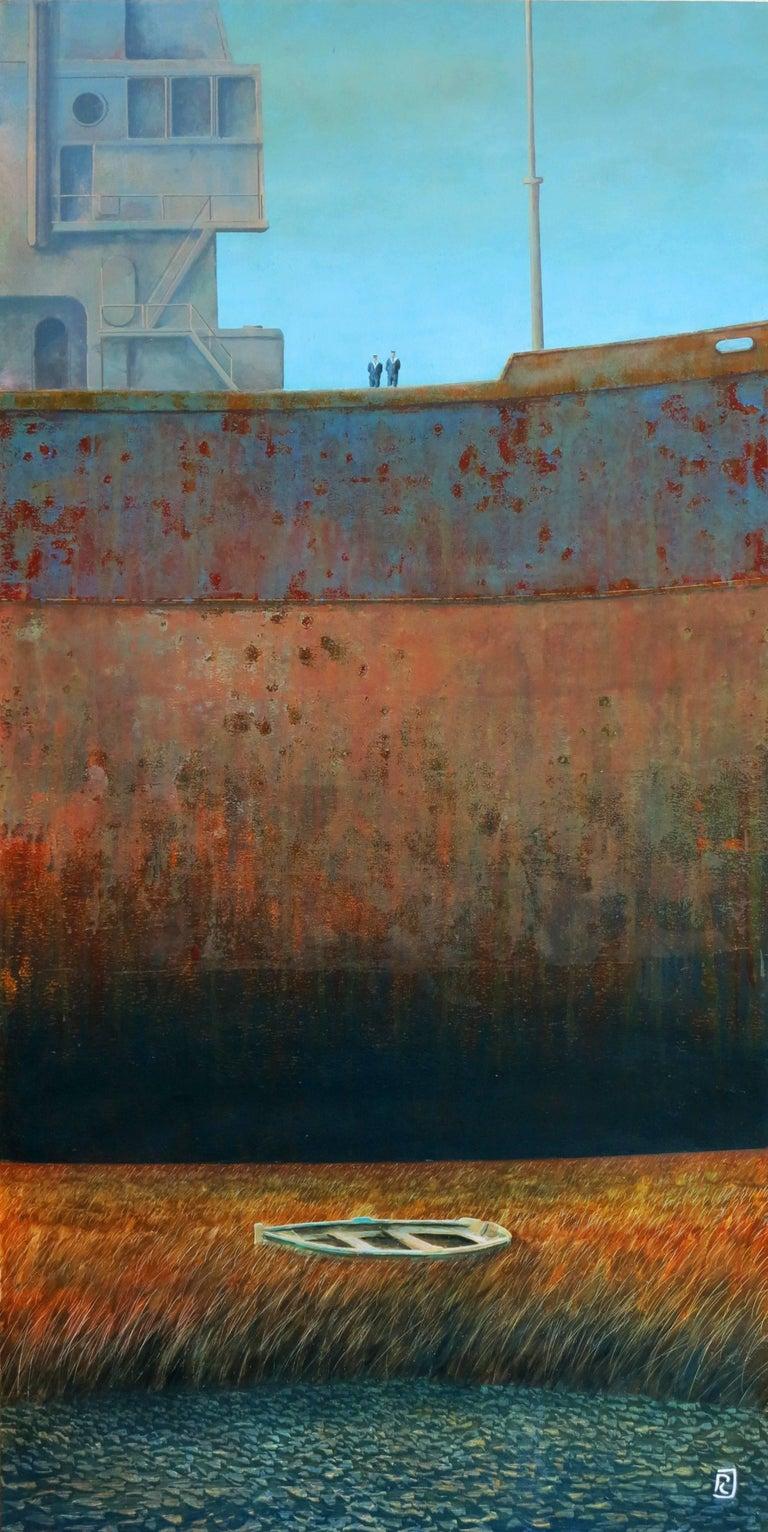 Deux marins, oil painting on wood panel