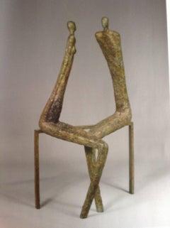 Flirt, bronze sculpture