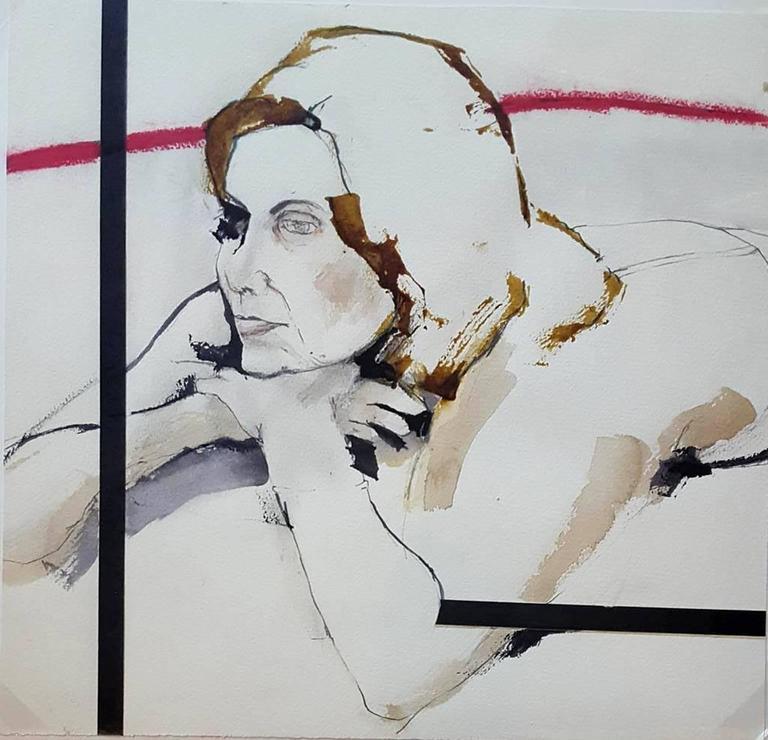 Geoffrey Stein - Cherie Working Drawing (Red) 1