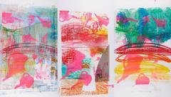Rainbow Elephant Triptychs