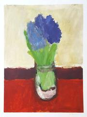 Hyacinths on Red Cloth