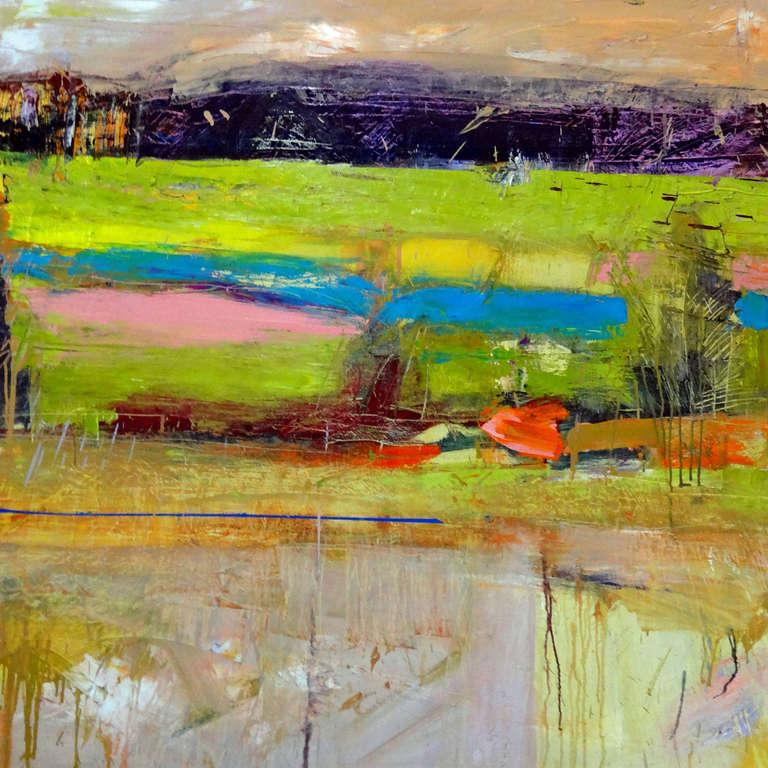 Helen Cantrell Salt Marsh Radiant Pink Painting At 1stdibs