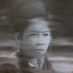 Tribal Indochine Woman 3 By Nguyen Quang Huy, Large Photorealist Painting