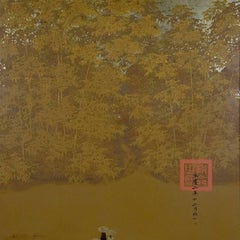Delta Morning, Bui Huu Hung Abstract Impressionist Lacquer on Wood Painting