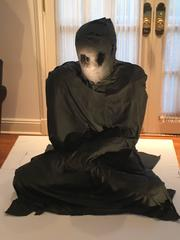 Meditation Man by Mattia Novello Mixed Media Seated Black Figure Polyurethane