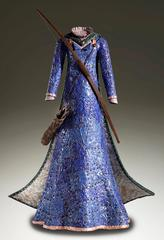 """Merida"" John Petrey  Life Size Metal Sculpture Blue Silver Patina Copper Steel"