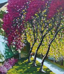 Summer Time in Hanoi, Le Thanh Son Large Framed Impressionist Landscape Painting