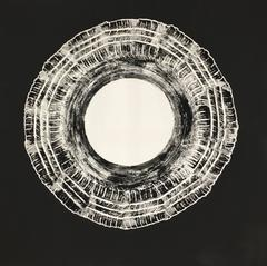 Black Flat Layers by Mattia Novello Acrylic on Canvas Painting Black White