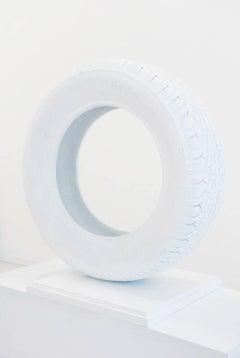 Soffice Spinta White Wrapped Tire by Mattia Novello Mixed Media White Tire