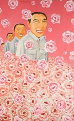 """""""We Don't Know That the Sky is Not Blue"""" Tran Trong V Oil on Canvas Pink White"""