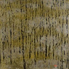 """""""Land of Memory"""" by Vu Duc Trung Lacquer on Wood Landscape Gold Brown Black"""