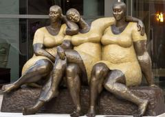 """Friends"" by Nnamdi Okonkwo Bronze Sculpture of Three Women"