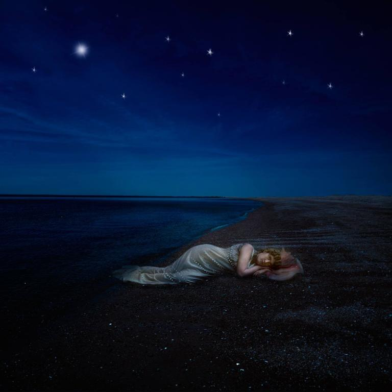 """""""Stranded in the Moonlight"""" Karen Johnson Photography Composite Blue Pink Yellow"""