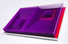 """""""French Square"""" J Margulis Kinetic Art PVC Aluminum Purple Red"""