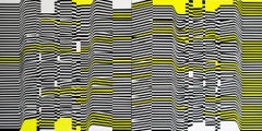 """""""Layers"""" Diptic Acrylic Painting 1 Piece of 2 Abstract Black Yellow White"""