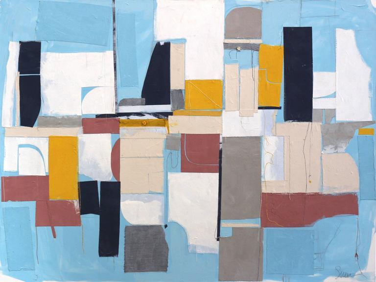 Susan Washington Abstract Painting - Miami to Ibiza
