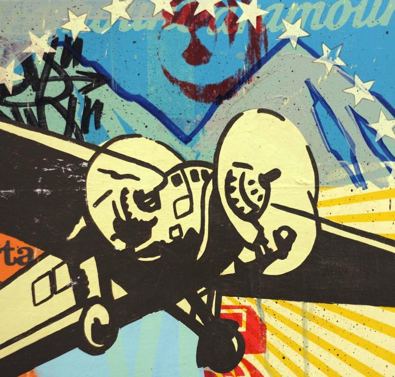 Skyward - Pop Art Painting by Johnny Taylor