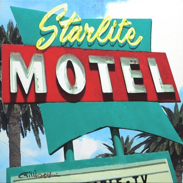 Starlite Motel - Pop Art Painting by Michael Giliberti