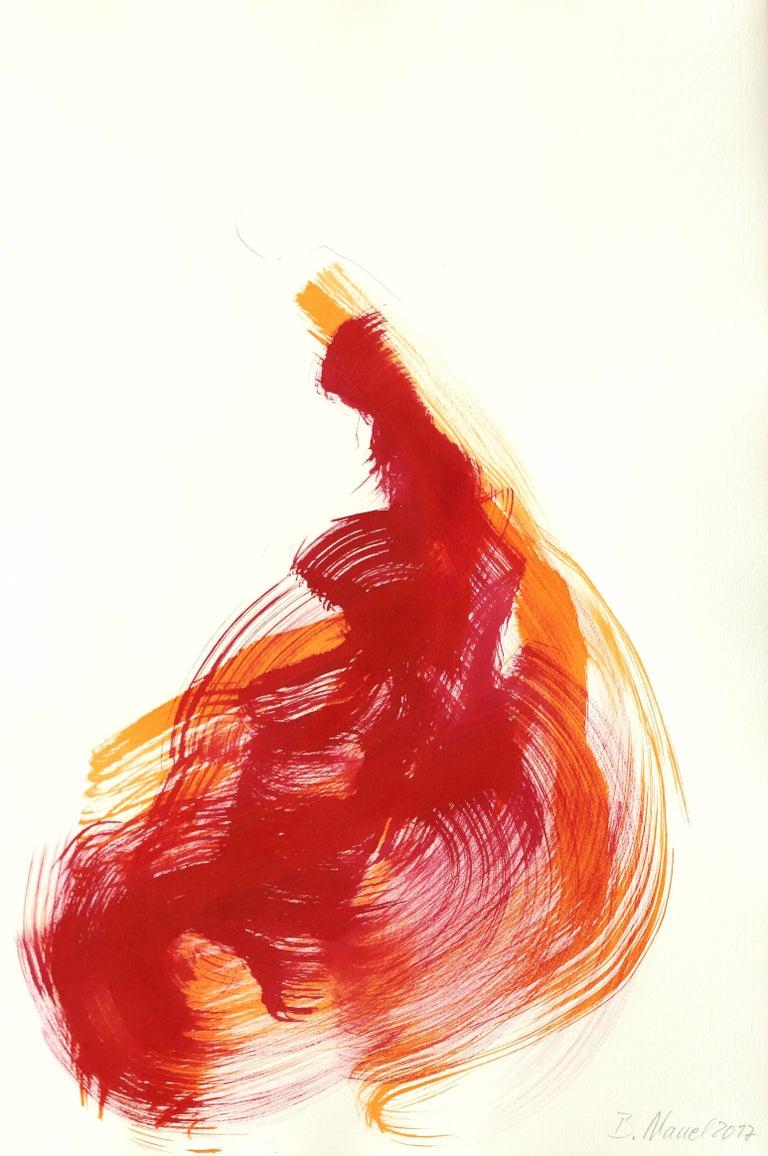 Bettina Mauel Figurative Painting - The Red Cloth 128