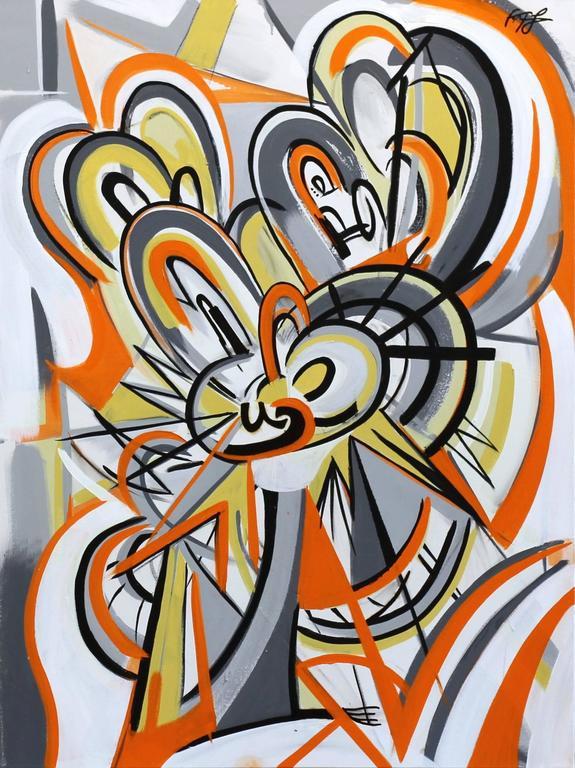 Orange Swirl Monkey
