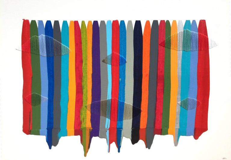 Raul de la Torre Abstract Painting - Fils I Colors CCCIII