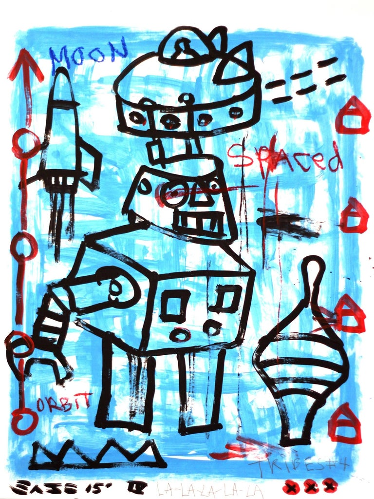 Gary John Figurative Painting - Moon Robot
