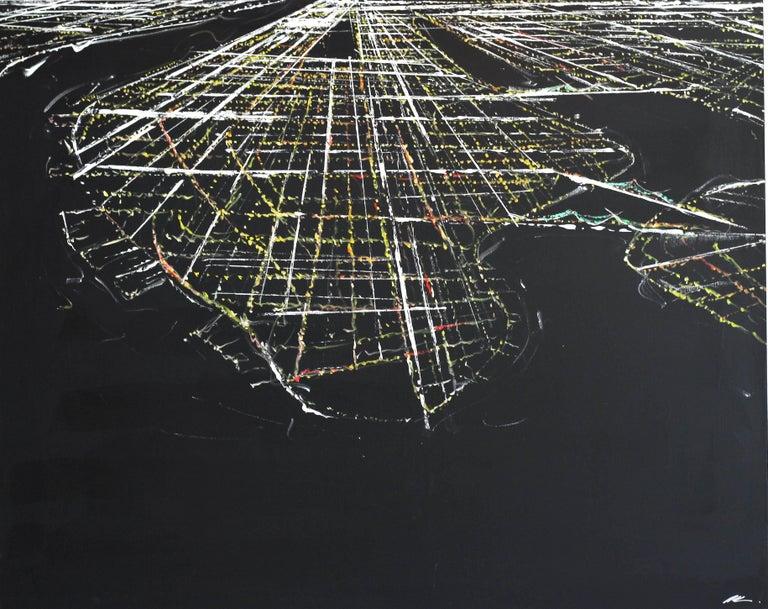 Pete Kasprzak Abstract Painting - Manhattan Aerial