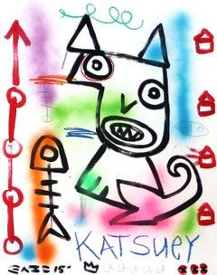 Katsuey - Colorful Original Cat-Inspired Artwork
