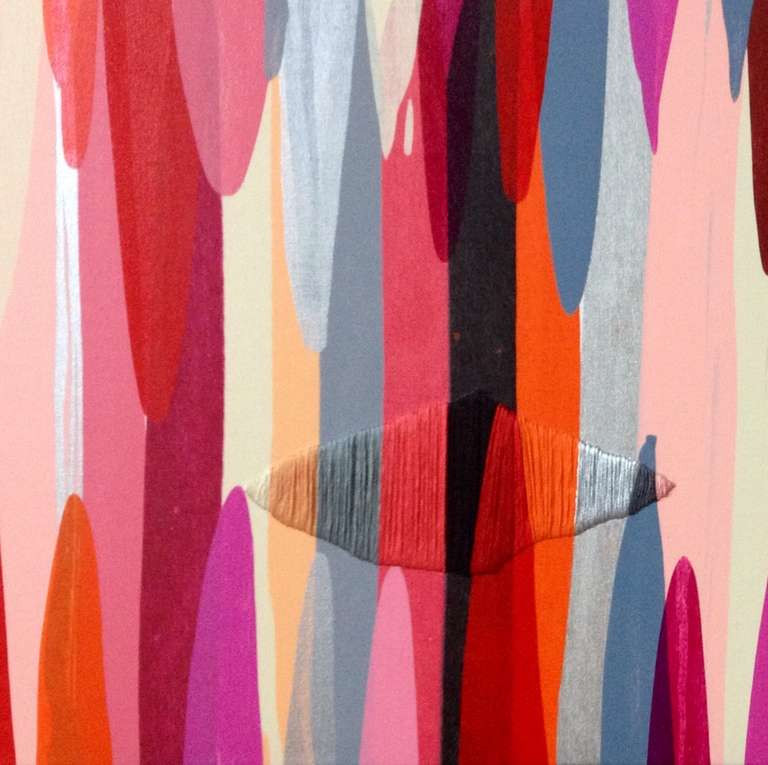 Poemes XI - Pink Mixed Media Art by Raul de la Torre