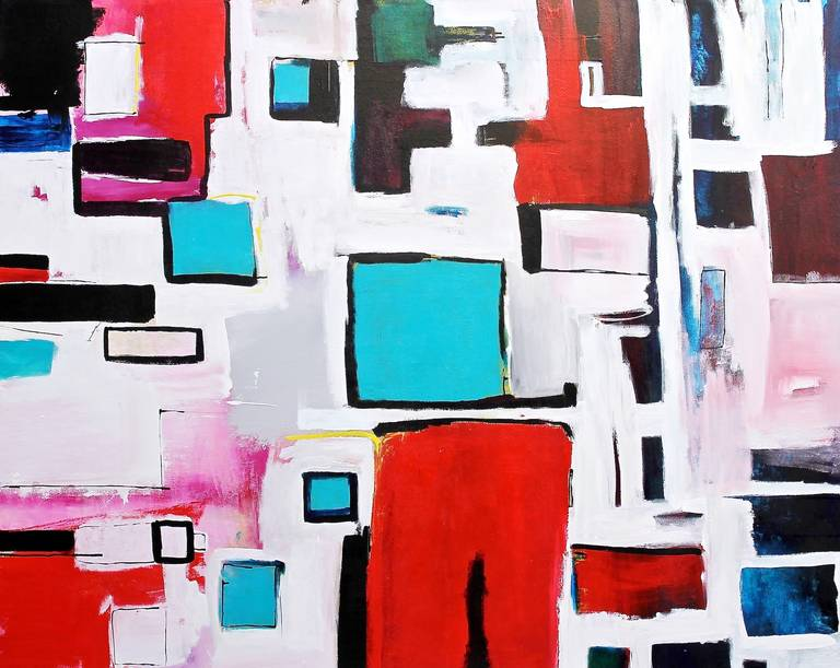 Amber Goldhammer Abstract Painting - In the City