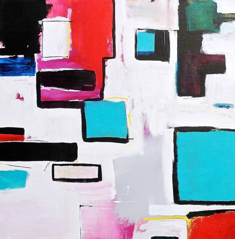 In the City - Painting by Amber Goldhammer
