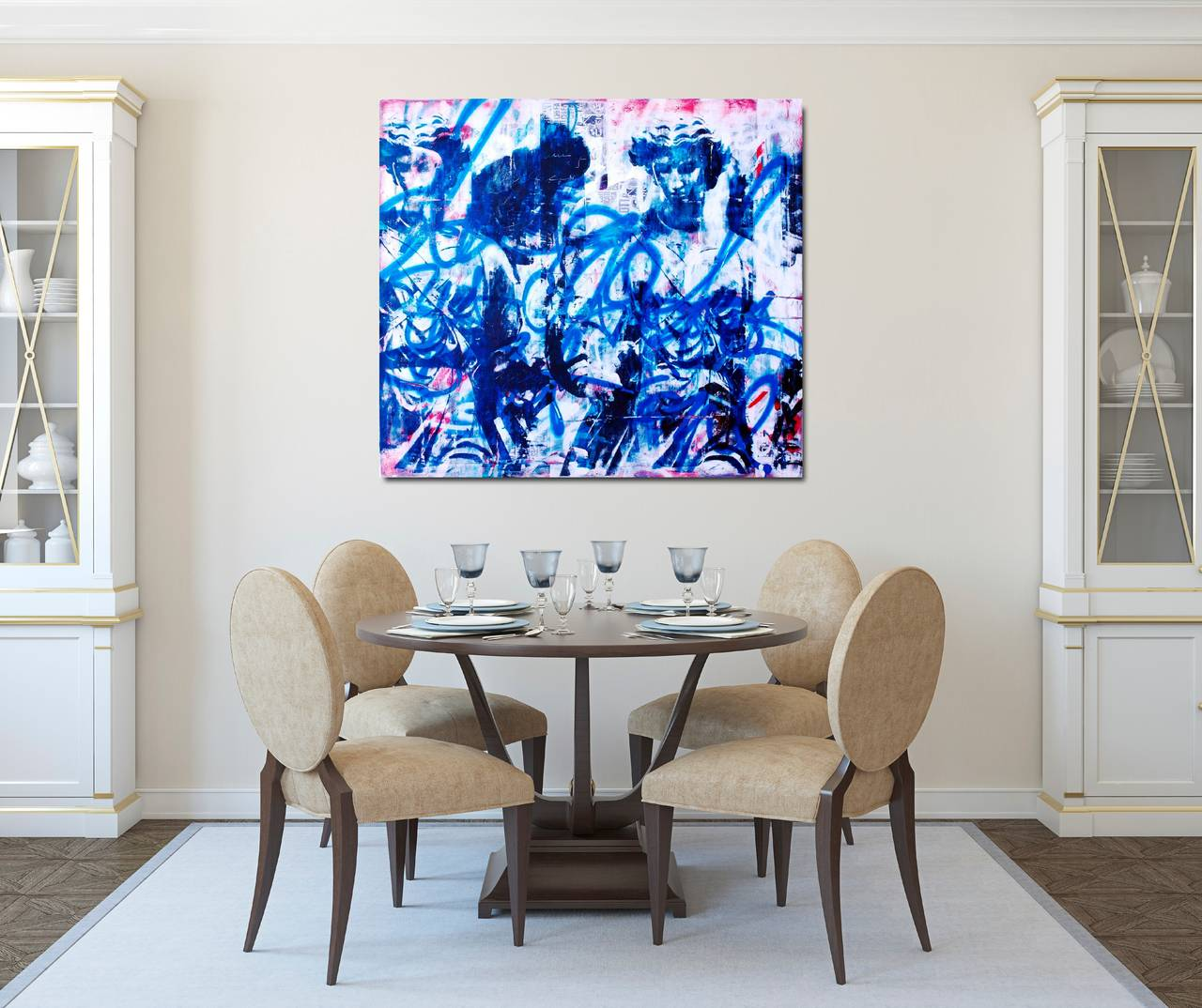 Ashleigh sumner the leap painting at 1stdibs for Espejos decorativos modernos