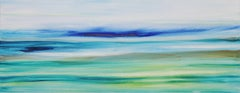 Air and Water - Large Original Abstract Landscape Painting