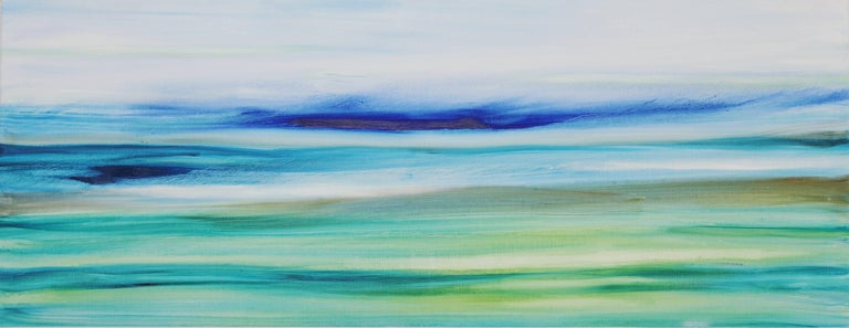 Bettina Mauel Abstract Painting - Air and Water - Large Original Abstract Landscape Painting