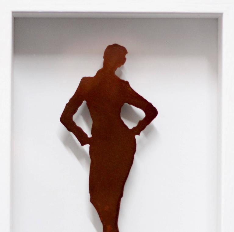 Emma (8/99) - Brown Figurative Sculpture by Gerhard Voelkle